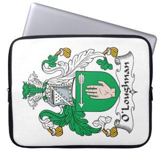 Escudo de la familia de O Loughnan Fundas Ordendadores