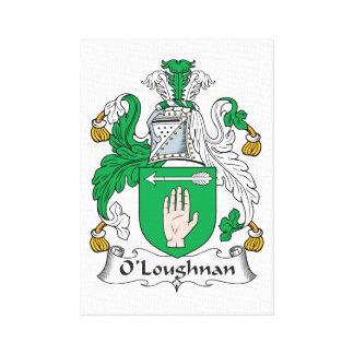 Escudo de la familia de O Loughnan Lona Estirada Galerías