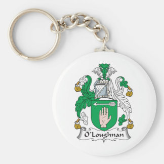 Escudo de la familia de O Loughnan Llavero Personalizado