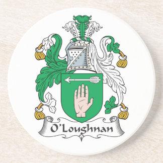 Escudo de la familia de O Loughnan Posavasos Manualidades