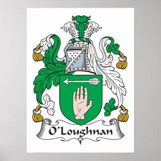Escudo de la familia de O Loughnan Poster