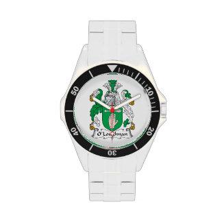 Escudo de la familia de O Loughnan Reloj