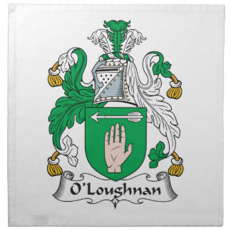 Escudo de la familia de O Loughnan Servilleta