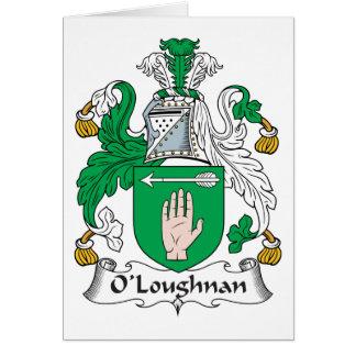Escudo de la familia de O Loughnan Tarjetón