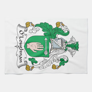 Escudo de la familia de O Loughnan Toalla De Mano