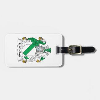 Escudo de la familia de O Mullan Etiqueta Para Equipaje