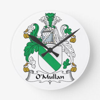 Escudo de la familia de O Mullan Relojes De Pared