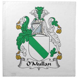 Escudo de la familia de O Mullan Servilletas Imprimidas