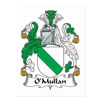 Escudo de la familia de O Mullan Tarjeta Postal