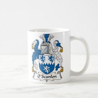 Escudo de la familia de O Scanlon Taza De Café