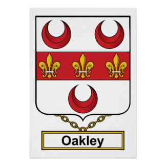Escudo de la familia de Oakley Impresiones