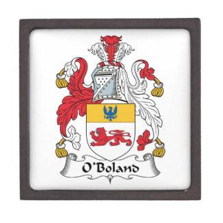 Escudo de la familia de O'Boland Caja De Regalo De Calidad