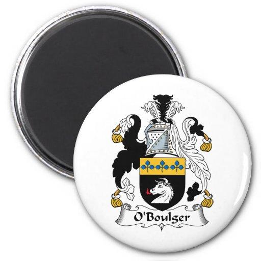 Escudo de la familia de O'Boulger Imán Redondo 5 Cm