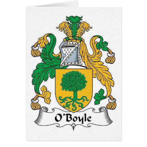 Escudo de la familia de O'Boyle Felicitación