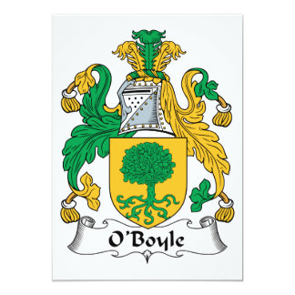 """Escudo de la familia de O'Boyle Invitación 5"""" X 7"""""""