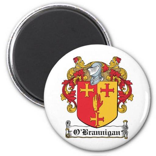 Escudo de la familia de O'Brannigan Imán Para Frigorífico
