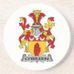 Escudo de la familia de O'Breen Posavasos Para Bebidas
