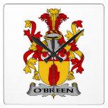 Escudo de la familia de O'Breen Reloj