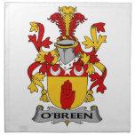 Escudo de la familia de O'Breen Servilleta