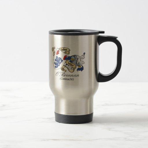 Escudo de la familia de O'Brennan (Connacht) Tazas De Café