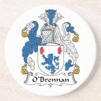 Escudo de la familia de O'Brennan Posavasos Personalizados