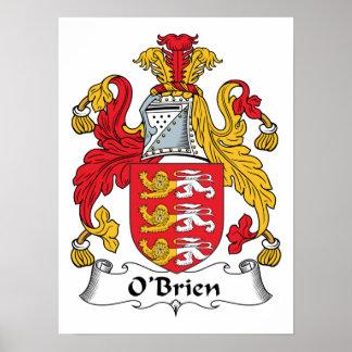 Escudo de la familia de O'Brien Póster