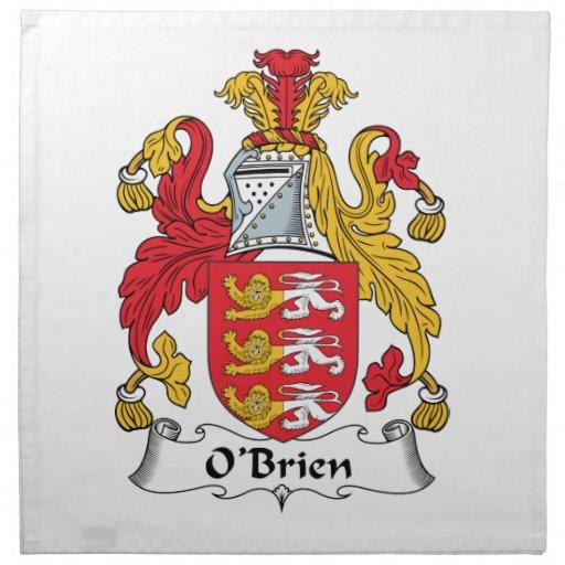 Escudo de la familia de O'Brien Servilleta De Papel