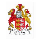 Escudo de la familia de O'Brien Tarjeta Postal