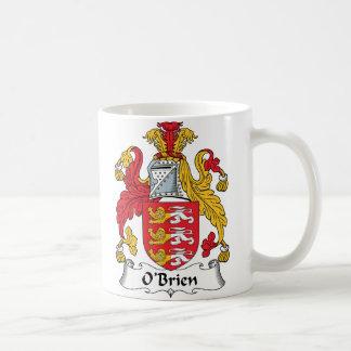 Escudo de la familia de O'Brien Tazas De Café