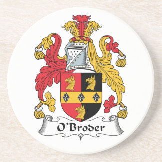 Escudo de la familia de O'Broder Posavasos Cerveza