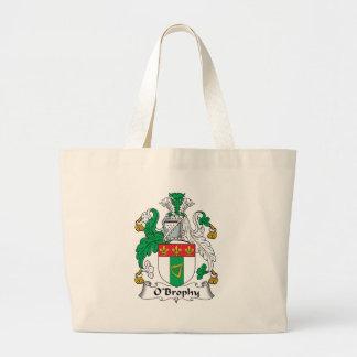 Escudo de la familia de O'Brophy Bolsa Tela Grande