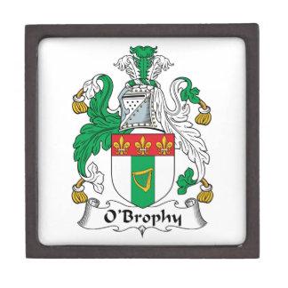 Escudo de la familia de O'Brophy Cajas De Joyas De Calidad