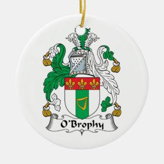 Escudo de la familia de O'Brophy Adorno Redondo De Cerámica