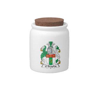 Escudo de la familia de O'Brophy Platos Para Caramelos
