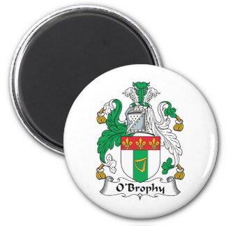 Escudo de la familia de O'Brophy Imán Redondo 5 Cm