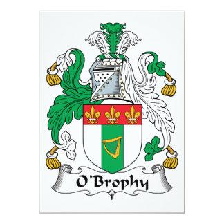 """Escudo de la familia de O'Brophy Invitación 5"""" X 7"""""""