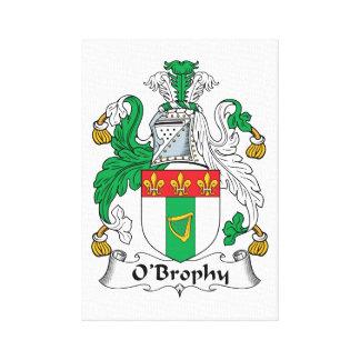 Escudo de la familia de O'Brophy Impresiones En Lienzo Estiradas