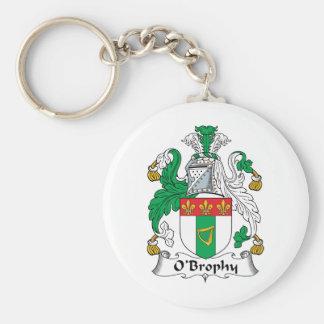 Escudo de la familia de O'Brophy Llavero Redondo Tipo Pin