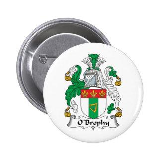 Escudo de la familia de O'Brophy Pin Redondo 5 Cm