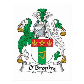 Escudo de la familia de O'Brophy Postal