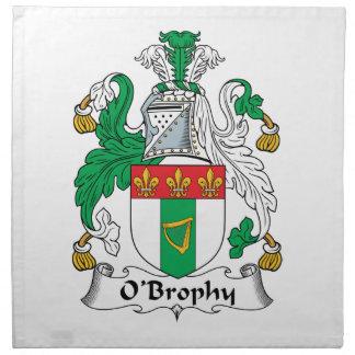 Escudo de la familia de O'Brophy Servilletas