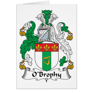 Escudo de la familia de O'Brophy Tarjeta De Felicitación
