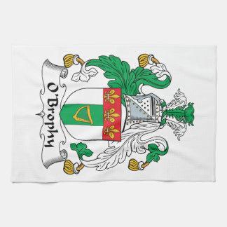 Escudo de la familia de O'Brophy Toallas De Cocina