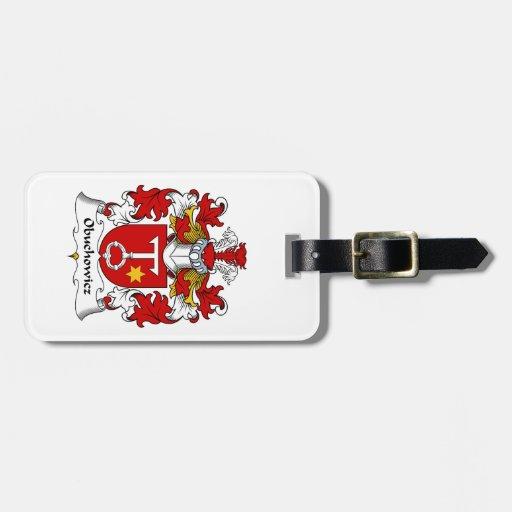 Escudo de la familia de Obuchowicz Etiquetas Para Maletas