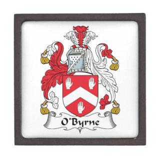 Escudo de la familia de O'Byrne Cajas De Recuerdo De Calidad