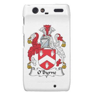 Escudo de la familia de O'Byrne Droid RAZR Carcasas