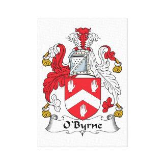 Escudo de la familia de O'Byrne Lienzo Envuelto Para Galerías