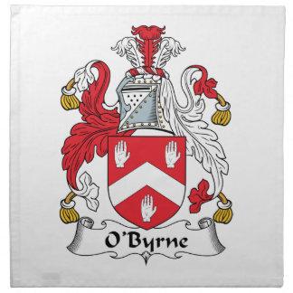 Escudo de la familia de O'Byrne Servilleta Imprimida