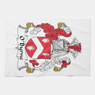Escudo de la familia de O'Byrne Toallas De Mano