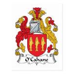 Escudo de la familia de O'Cahane Postal